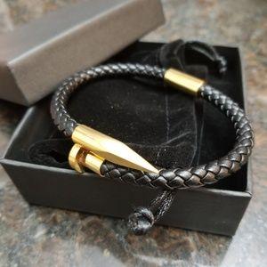 Gold braided Nail Bracelet
